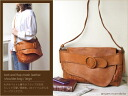 Accent belt with flap メッシュショルダー bag-size L / robita shoulder bag diagonally over bag leather bag ladies o-sho
