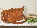 It is bag real leather bag lady o-sho at & shoulder bag / ロビタ (mesh bag) shoulder bag bias at bias of the mesh leather