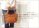 Gentle form tote bag (Small) /AN-165S/ ロビタメッシュバッグバッグ cowhide casual Thoth real leather bag lady o-sho of the mesh leather with the embroidery motif