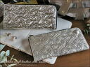 saifu wallet banquet party gold silver o-sho where glitter slim wallet / Takaya Takaya wallet Lady's long wallet L character fastener Japan bookbinding leather of the Italian craft leather is thin