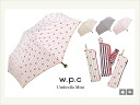 Stripe ribbon mini umbrella (folding) / world party o-sho