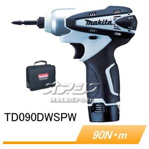 10.8V充電式インパクトドライバー TD090DWSPW 90Nm 充電器・バッテリ・ソフトケース付
