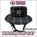 34%OFF winter surf hat / black check
