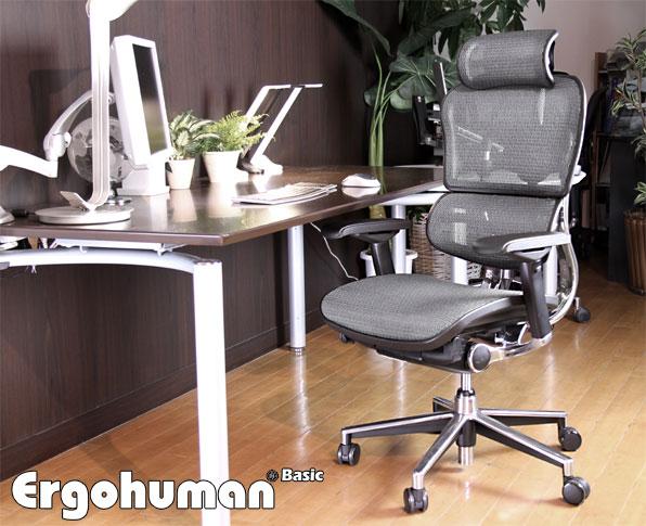 Ergohuman(エルゴヒューマン)チェア 独立したランバーサポートの力!!パソコンチェア/OAチェア