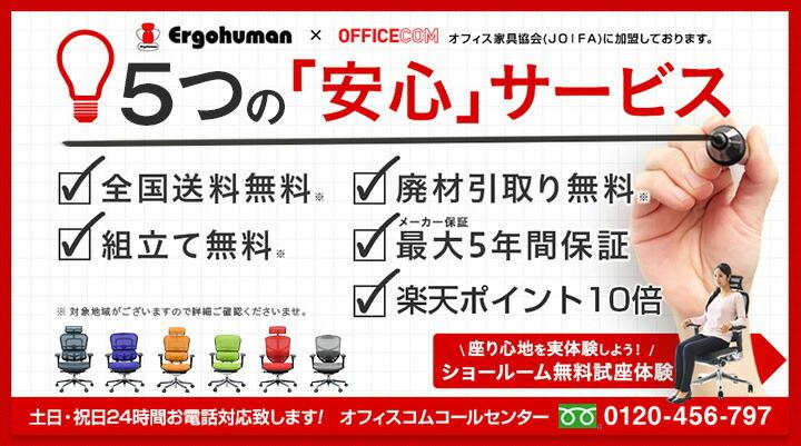 オフィスコム7つの安心サービス
