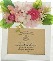 カサブランカ15輪とグリーンの花束