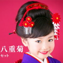 Yaegiku ornamental hairpin (ornamental hairpin) both decorations set
