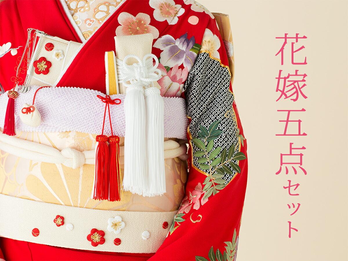 花嫁五点セット 花嫁 髪飾り かんざし つまみ細工