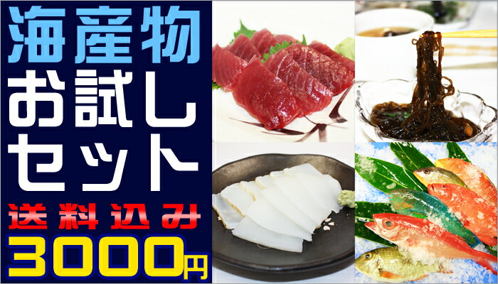 海産物お試しセット!3000円ポッキリ