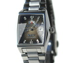 オリエントスリー star star cut glass square automatic winding ladies ' WV0941NQ black