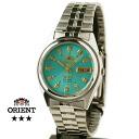 Orient Overseas model mens automatic winding TEM4J003F blue green