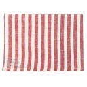 fog linen Tea towel red white striped thick line