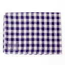 fog linen Tea towel purple x white Plaid 10P28oct13