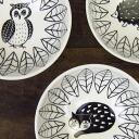 可爱,令人感动的动物插图 通过通俗的插画家,松尾美雪设计陶瓷碗的