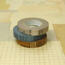 Old book masking tape 10 mm three color sets