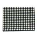 fog linen Tea towel Navy / white check