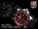 Luminox mens watch black red rubber 3165