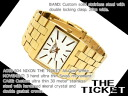Nixon Mens Watches THE TICKET gold white A085-504