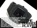 Nixon men watch RUBBER PLAYER rubber player gray black rubber A139-195