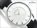 Scar gene thin men's watch white dial black leather belt 433LSLB1