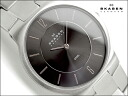 Skagen thin mens watch 572 グレーダイアル silver stainless steel belt 572 LSXM
