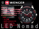 Wenger men's watches LED Nomad black rubber 70430