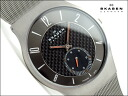 Skagen thin mens watch 805 carbon-titanium gray carbon dial seconds universal belt 805 XLTTM