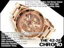 Nixon men's Chronograph Watch THE 42-20 CHRONO 42-20 Chrono オールローズゴールド stainless steel A037-897