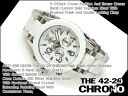 42-20 Nixon men watch THE CHRONO chronograph sodium thiosulfate Risch white acetate A037-898