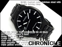 Nixon Mens Watches THE CHRONICLE SS Chronicles SS black stainless steel A198-001