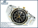 Casio foreign countries モデルエディフィスメンズクロノグラフ watch black dial gold combination stainless steel belt EF-503SG-1AVDF