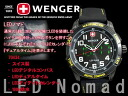 Wenger men's watches パタゴニアン-expedition race models LED Nomad Black × Yellow Rubber belt 70434