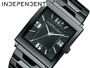 Independent men's watch new standard スクエアミニ black BQ1-042-51
