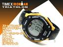 Timex Ironman Triathlon 30 lap men and women unisex Digital Watch Black × Yellow urethane belt T5E921