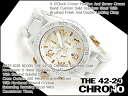 Nixon mens Watch THE 42-20 CHRONO 42-20 Chrono オールホワイトゴールド A0371035