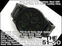 51-30 Nixon men watch THE mat black surplus stainless steel belt A057-1042