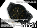 Men's Chronograph Watch Nixon THE 51-30 CHRONO 51-30 Chrono matte-black x Gold stainless steel belt A083-1041