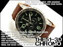 Nixon Mens Watches THE 51-30 CHRONO LEATHER 51-30 Chrono leather black / saddle brown leather belt A124-1037