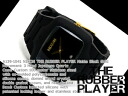 Nixon men watch THE RUBBER PLAYER rubber player mat black X gold rubber belt A139-1041