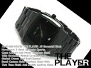 Nixon men watch THE PLAYER player oar gunmetal X black stainless steel A140-680