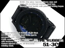 Nixon Mens Watches THE RUBBER 51-30 rubber 51-30 black Silicon belt A236-000