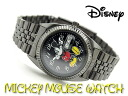Disney Mickey Mouse Unisex Watch Black Dial gunmetal MCK858