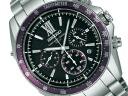 SEIKO Brights electric wave solar chronograph men watch black purple titanium Yu Darvish image character SAGA107