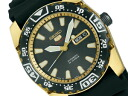 Seiko mechanical Seiko 5 sports mens watch automatic hand-wound movement black gold urethane belt SARZ012
