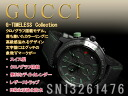 Gucci chronograph men watch G thymeless collection black X dark green leather belt YA126225