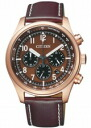 Citizen COLLECTION citizen collection men watch ecodrive chronograph brown pink gold CA4003-02X