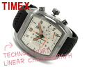Timex men's ライナークロノ chart watch Gunmetal Silver Dial rubber belt T3C487