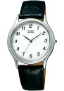 Citizen form men watch Eco drive white leather belt FRB59-2251