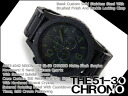 Nixon men's Chronograph Watch THE 51-30 CHRONO 51-30 Chrono Matt Black * surplus stainless steel belt A083-1042
