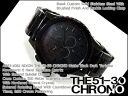 Nixon men's Chronograph Watch THE 51-30 CHRONO 51-30 Chrono Matt Black / dark acetate x stainless steel belt A083-1061